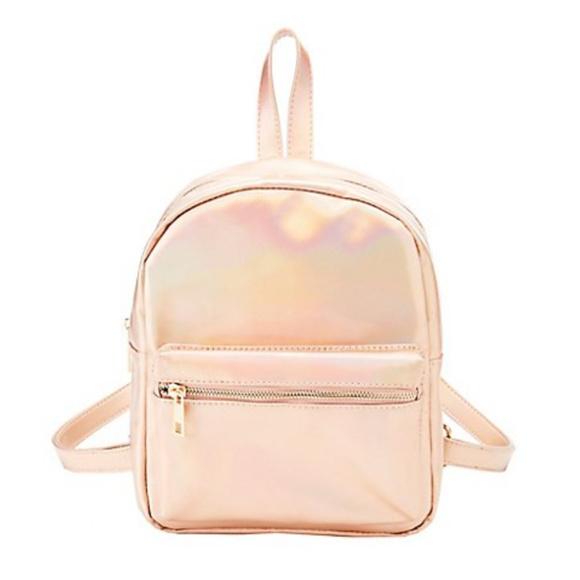 05e33218f4 ... Cute Rose Gold Holo Mini Small Backpack Purse Bag official supplier  abcc8 cdae0 ...